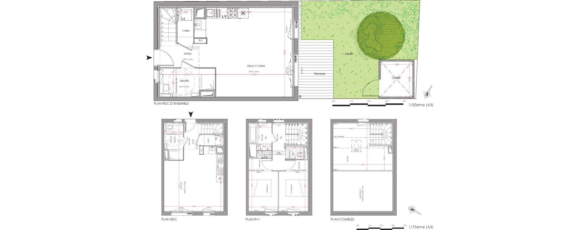Maison T3 de 72,07 m2 à Villenave-D'Ornon Centre