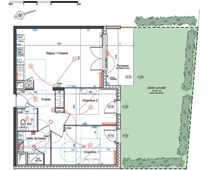 Appartement t3 villenave d 39 ornon n 337 nord for Plan d appartement t3