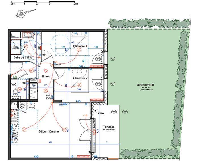 Appartement t3 villenave d 39 ornon n 338 nord for Plan d appartement t3