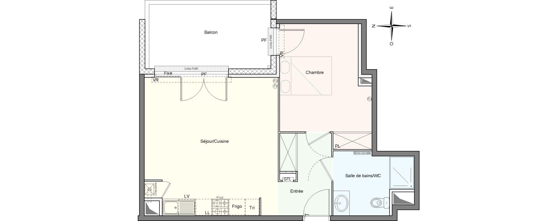Appartement T2 de 48,70 m2 à Villenave-D'Ornon Le bocage