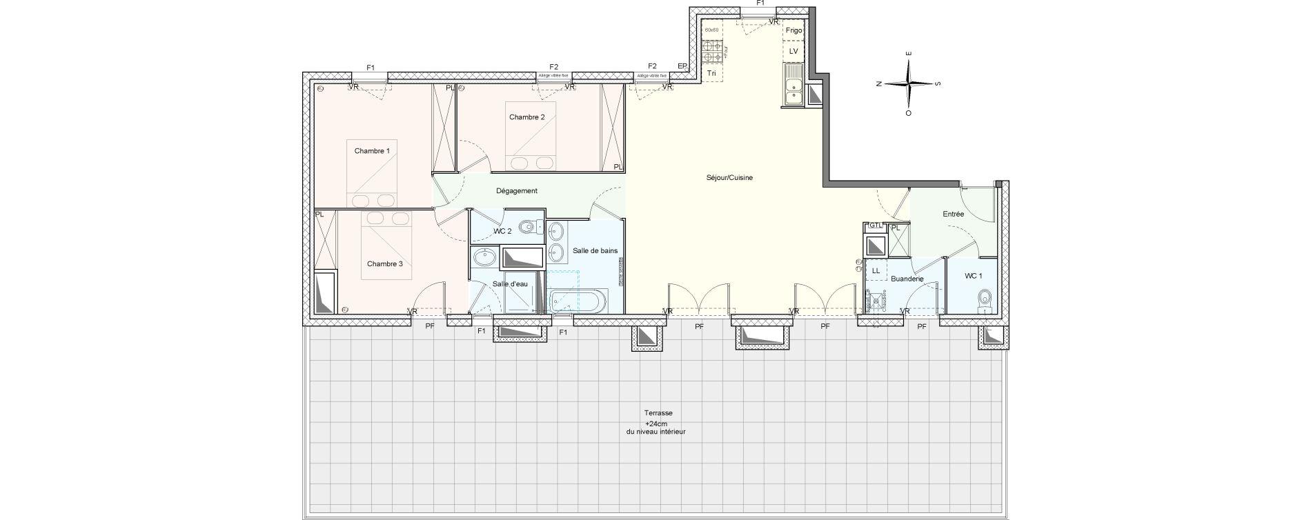 Appartement T4 de 107,31 m2 à Villenave-D'Ornon Le bocage