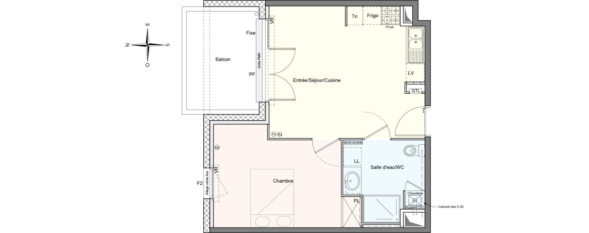 Appartement T2 de 40,47 m2 à Villenave-D'Ornon Le bocage