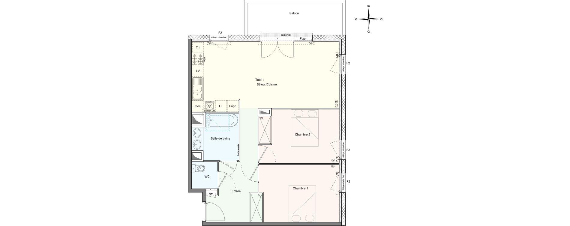 Appartement T3 de 66,84 m2 à Villenave-D'Ornon Le bocage