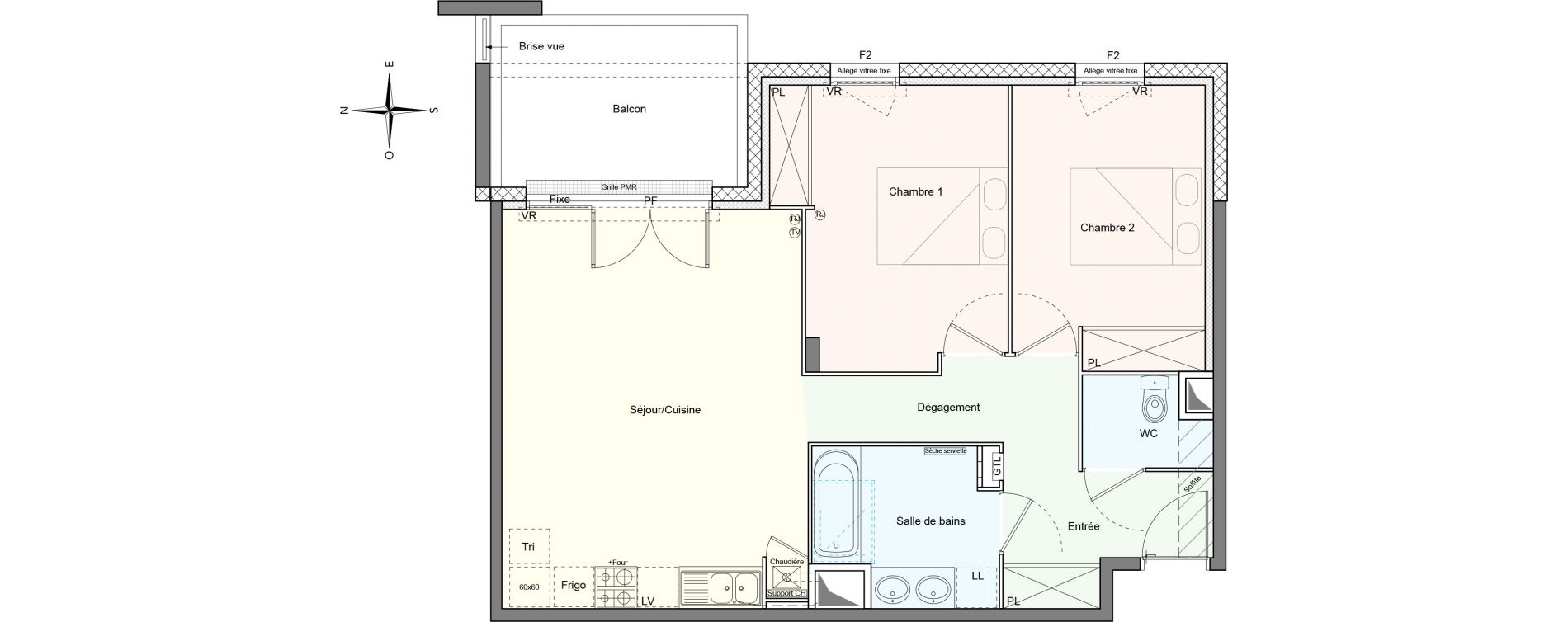 Appartement T3 de 67,08 m2 à Villenave-D'Ornon Le bocage