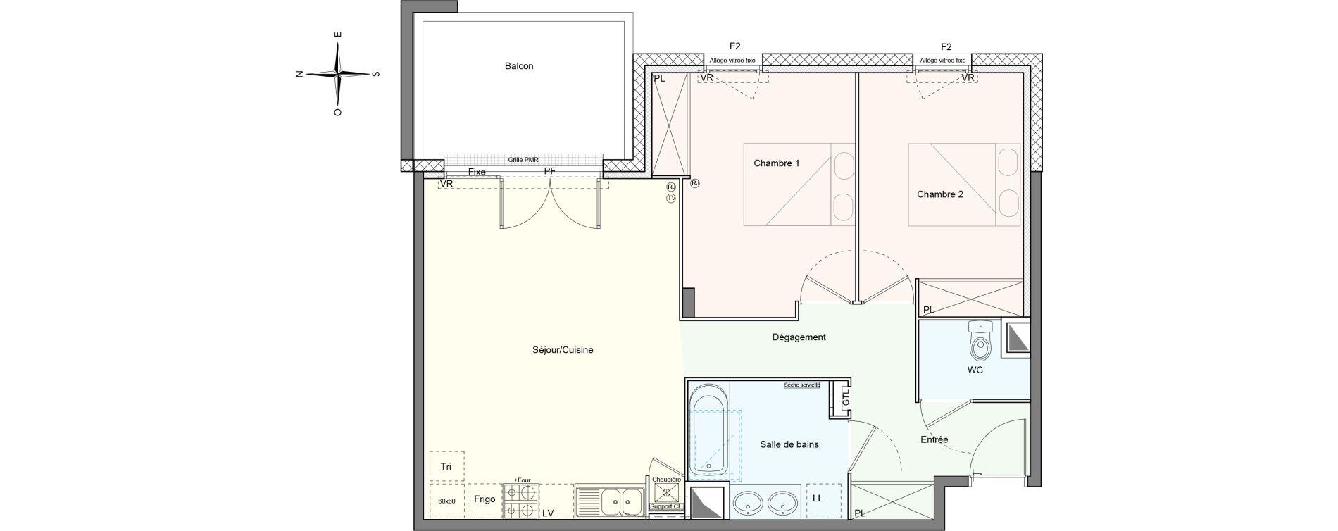 Appartement T3 de 67,18 m2 à Villenave-D'Ornon Le bocage