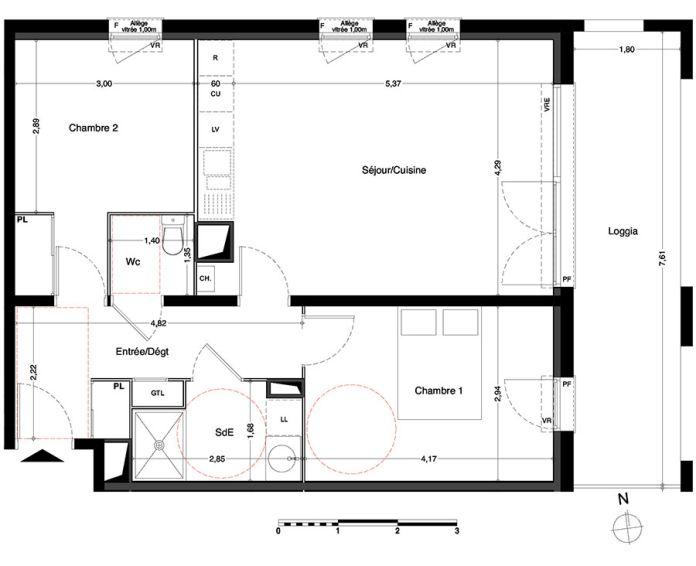 Appartement t3 villenave d 39 ornon n 431 est for Chambre d agriculture haute corse