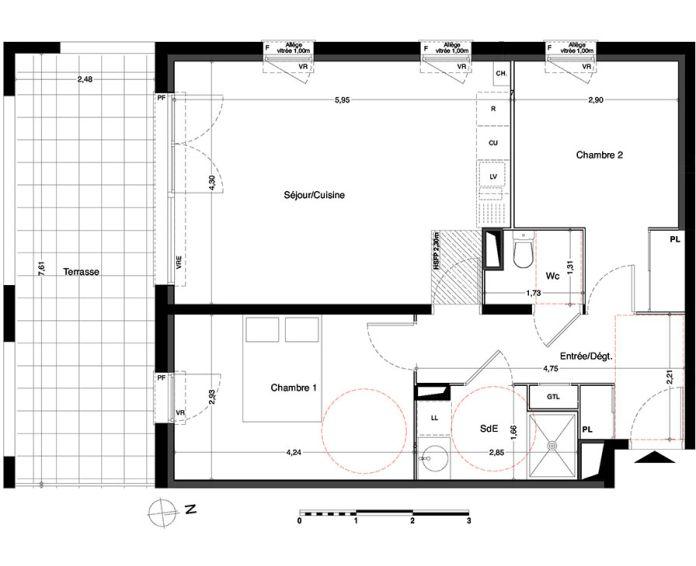 Appartement t3 villenave d 39 ornon n 433 sud for Chambre d agriculture haute corse