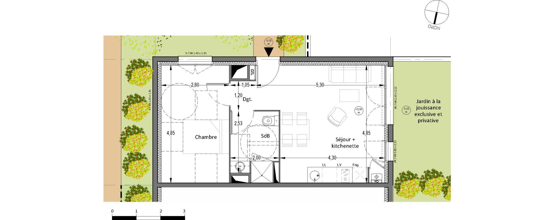 Plan T2 neuf à Villenave-d'Ornon de