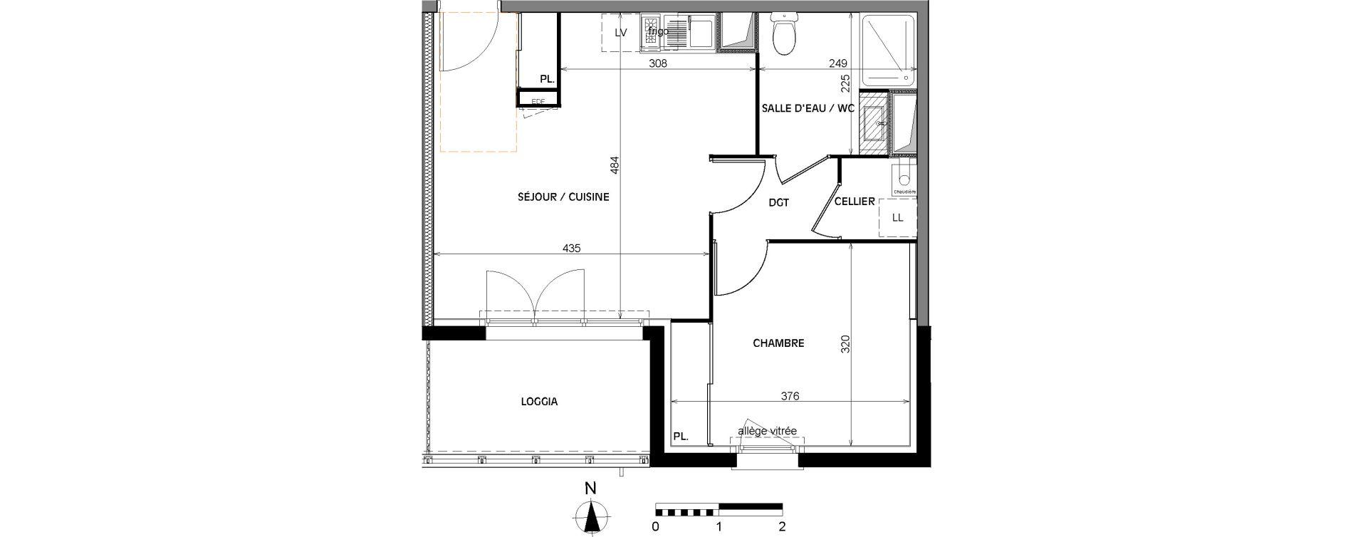 Appartement T2 de 42,50 m2 à Villenave-D'Ornon Villenave d ornon chambery