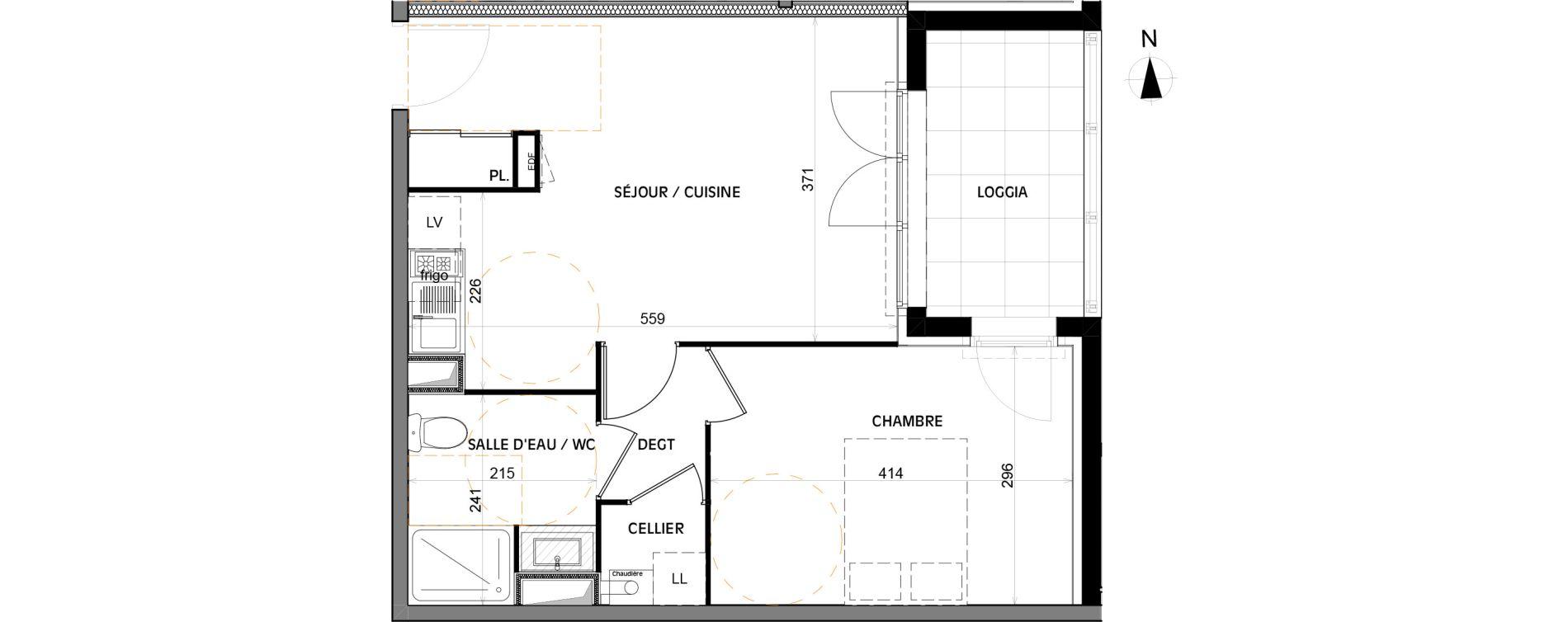 Appartement T2 de 42,00 m2 à Villenave-D'Ornon Villenave d ornon chambery