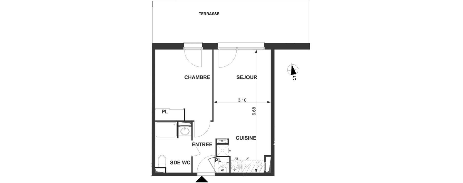 Appartement T2 de 40,10 m2 à Villenave-D'Ornon Le bocage