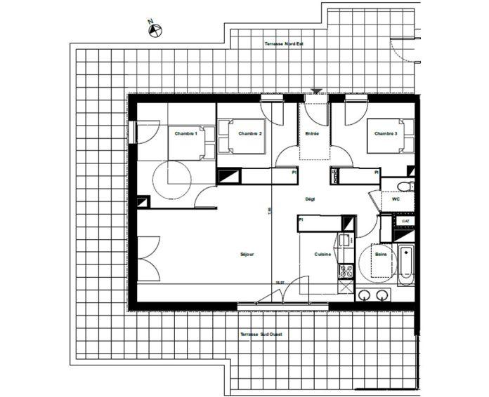 Plan T4 neuf à Biscarrosse de