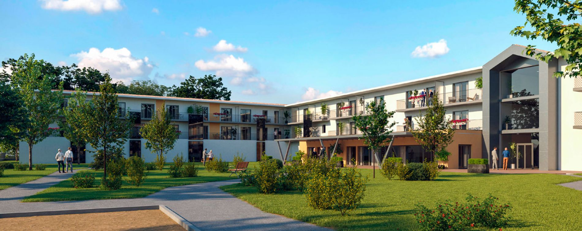 Saint-Paul-lès-Dax : programme immobilier neuve « Les Girandières Soleil de Gascogne »