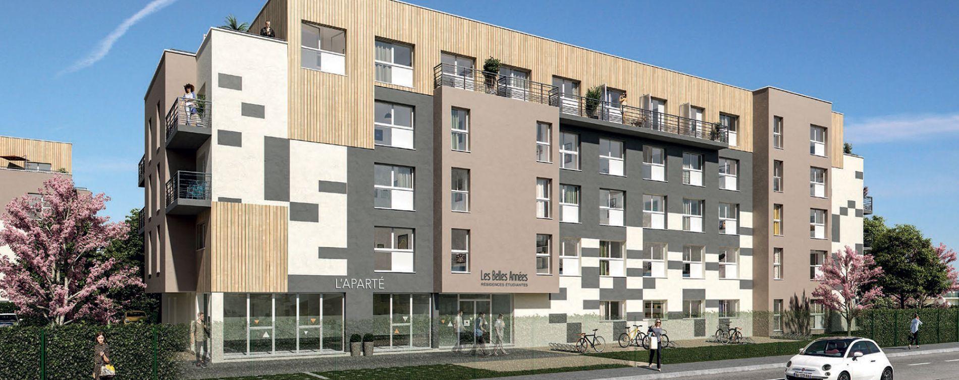 Poitiers : programme immobilier neuve « Convergence & Aparté »