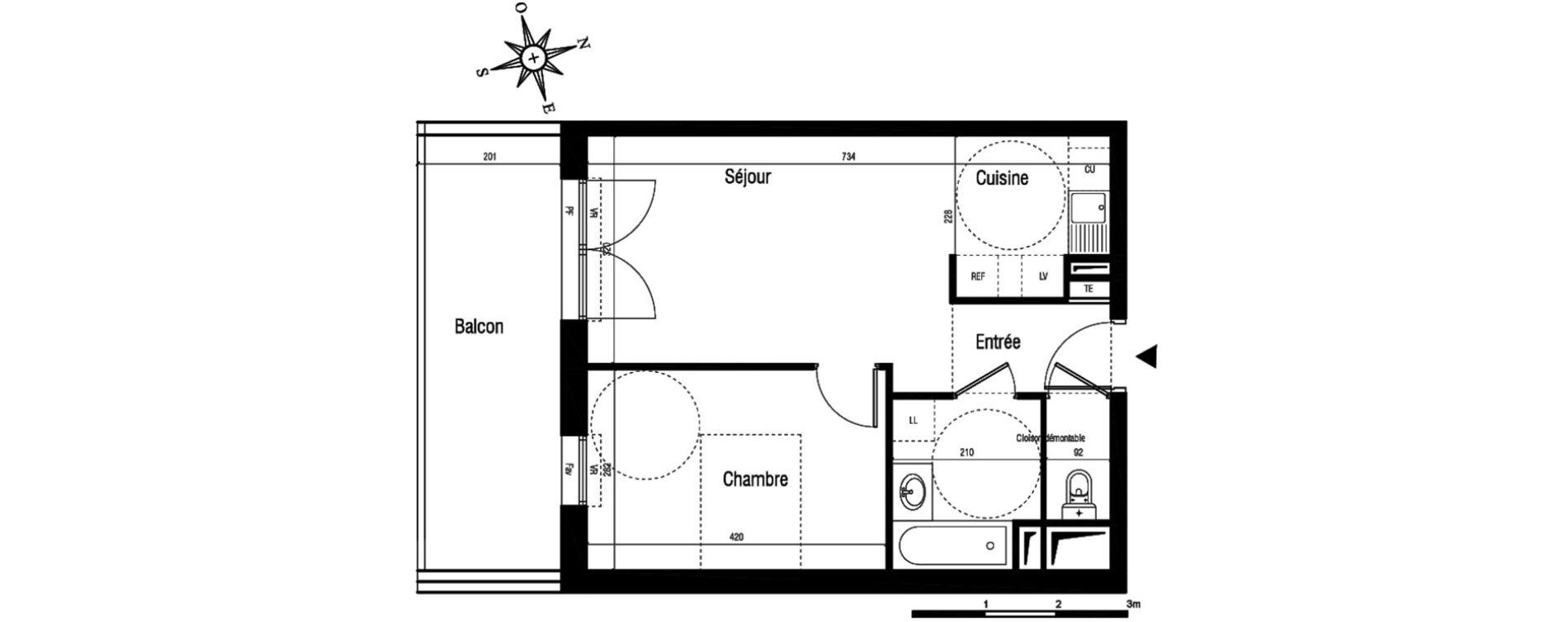 Appartement T2 de 42,40 m2 à Aigues-Mortes Centre