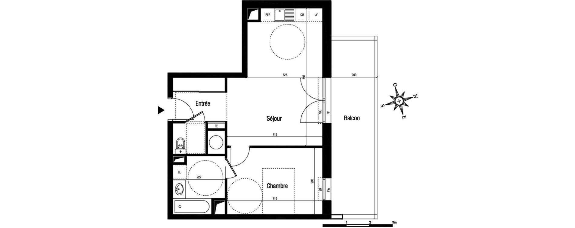 Appartement T2 de 46,10 m2 à Aigues-Mortes Centre