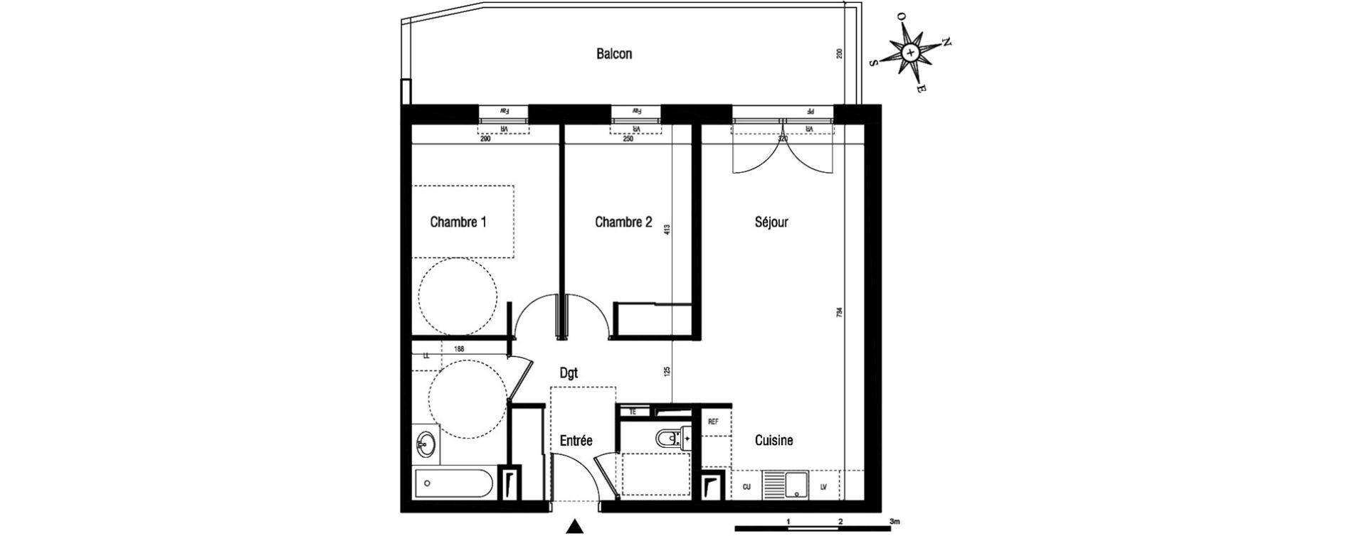 Appartement T3 de 61,50 m2 à Aigues-Mortes Centre