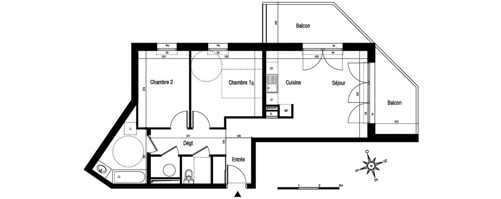 Appartement T3 de 62,50 m2 à Aigues-Mortes Centre