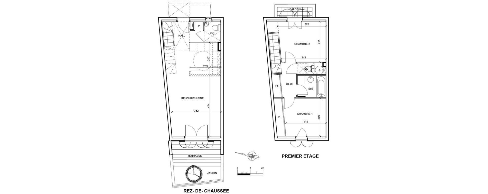 Maison T3 de 68,41 m2 à Aigues-Mortes Centre