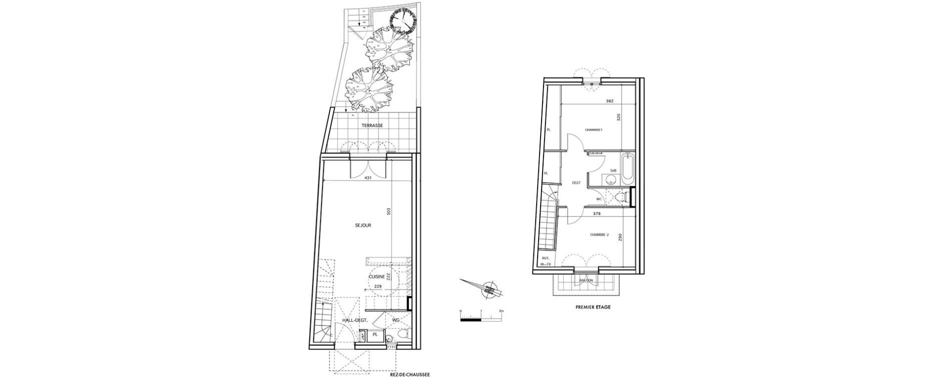 Maison T3 de 74,12 m2 à Aigues-Mortes Centre