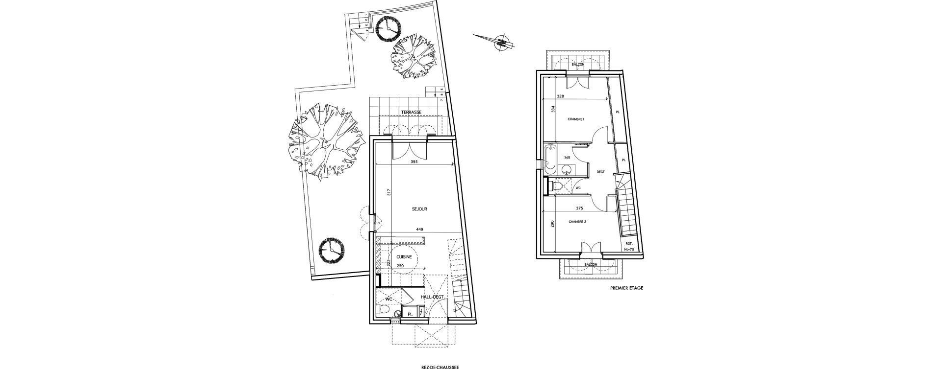 Maison T3 de 73,45 m2 à Aigues-Mortes Centre