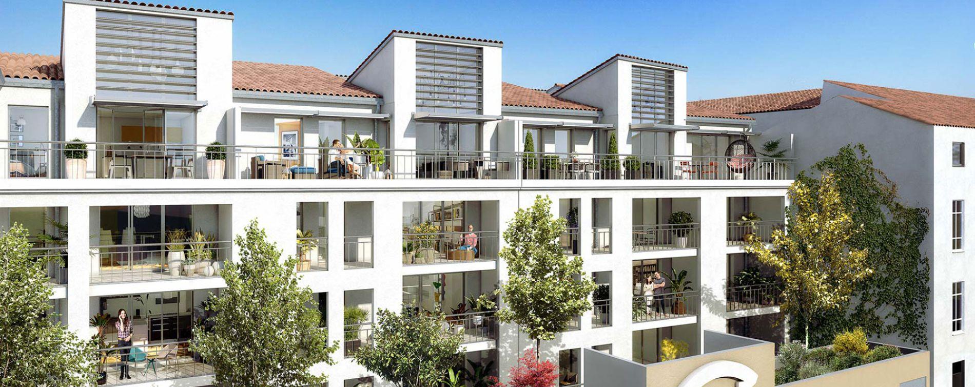 Nîmes : programme immobilier neuve « Écrin des Arts » en Loi Pinel