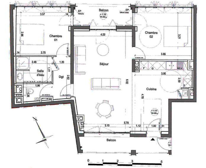 Plan T3 neuf à Nîmes de