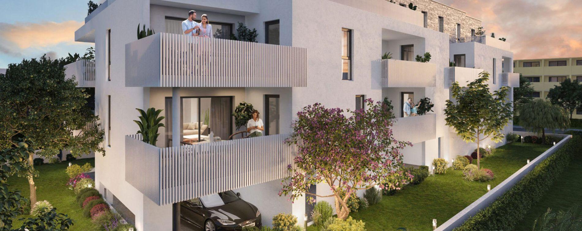 Nîmes : programme immobilier neuve « Le Carré des Amoureux » en Loi Pinel (2)