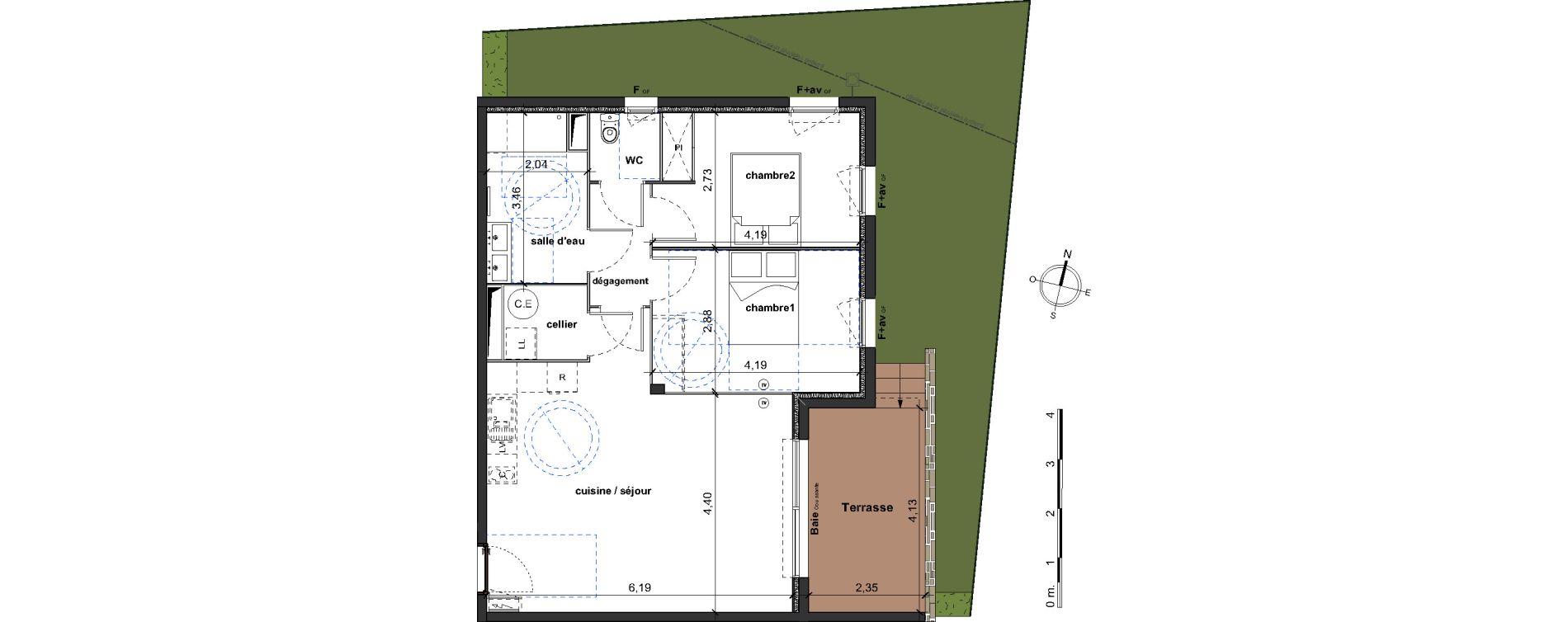 Appartement T3 de 67,85 m2 à Vergèze Centre