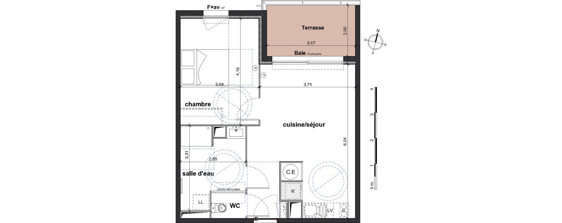 Appartement T2 de 44,95 m2 à Vergèze Centre