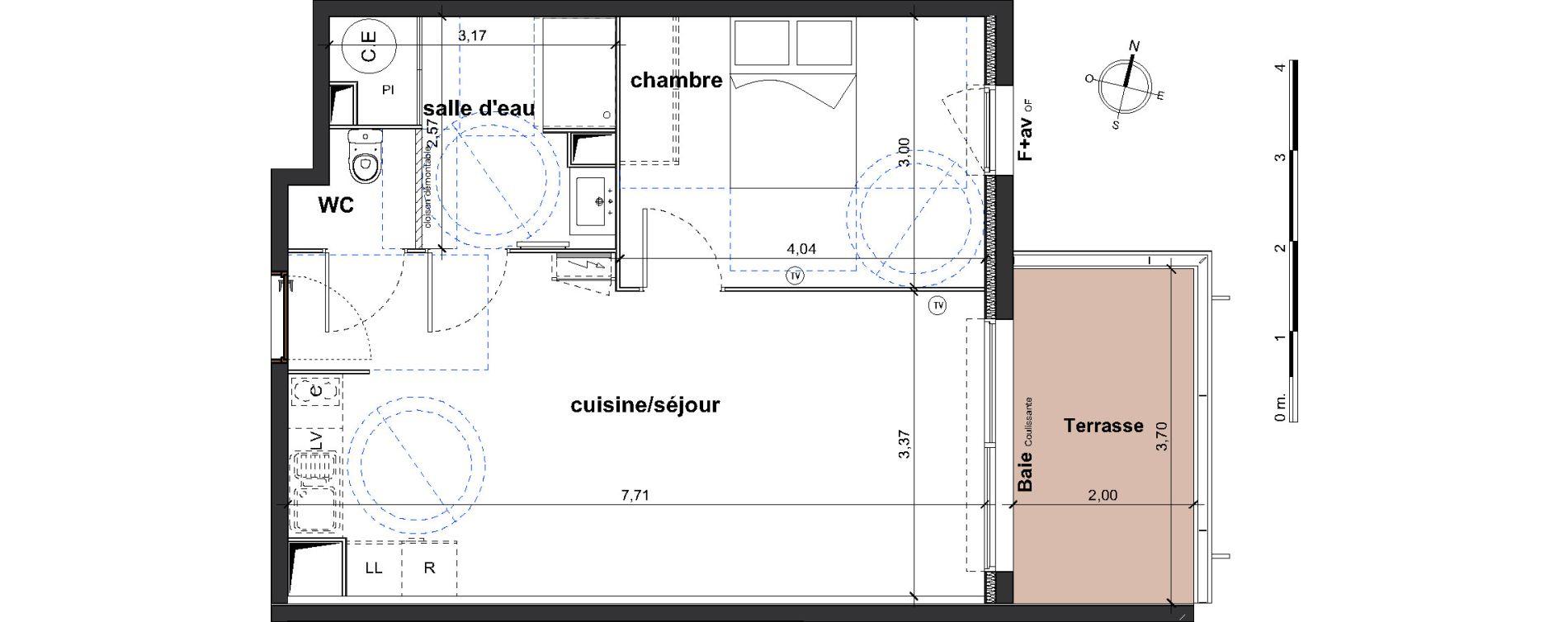 Appartement T2 de 46,85 m2 à Vergèze Centre
