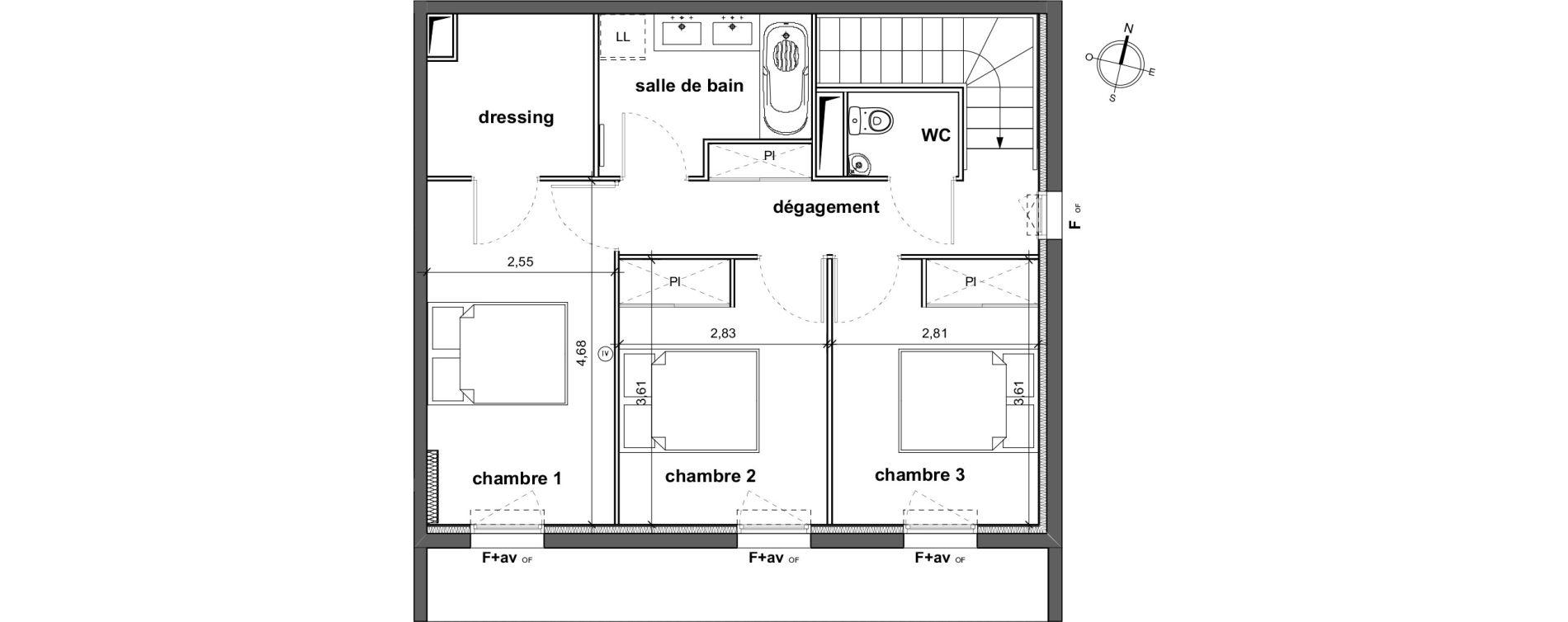 Duplex T4 de 96,15 m2 à Vergèze Centre