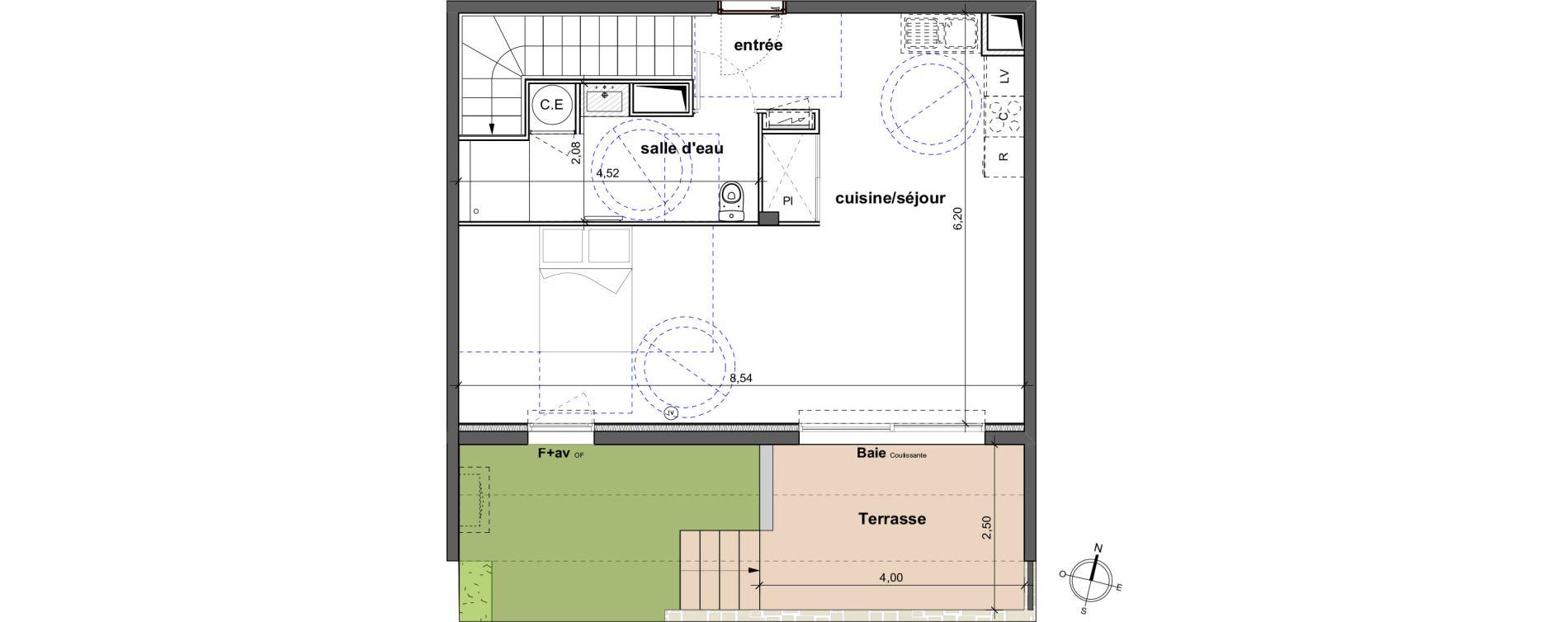 Duplex T4 de 98,80 m2 à Vergèze Centre