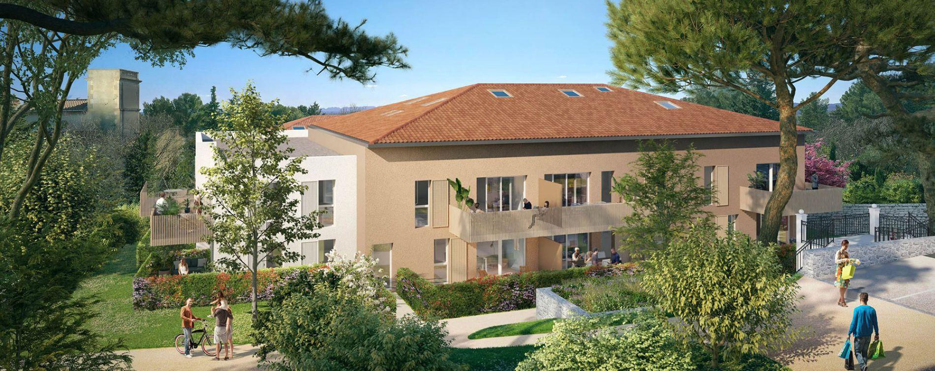 Villeneuve-lès-Avignon : programme immobilier neuve « Domaine des Grands Pins » en Loi Pinel (2)