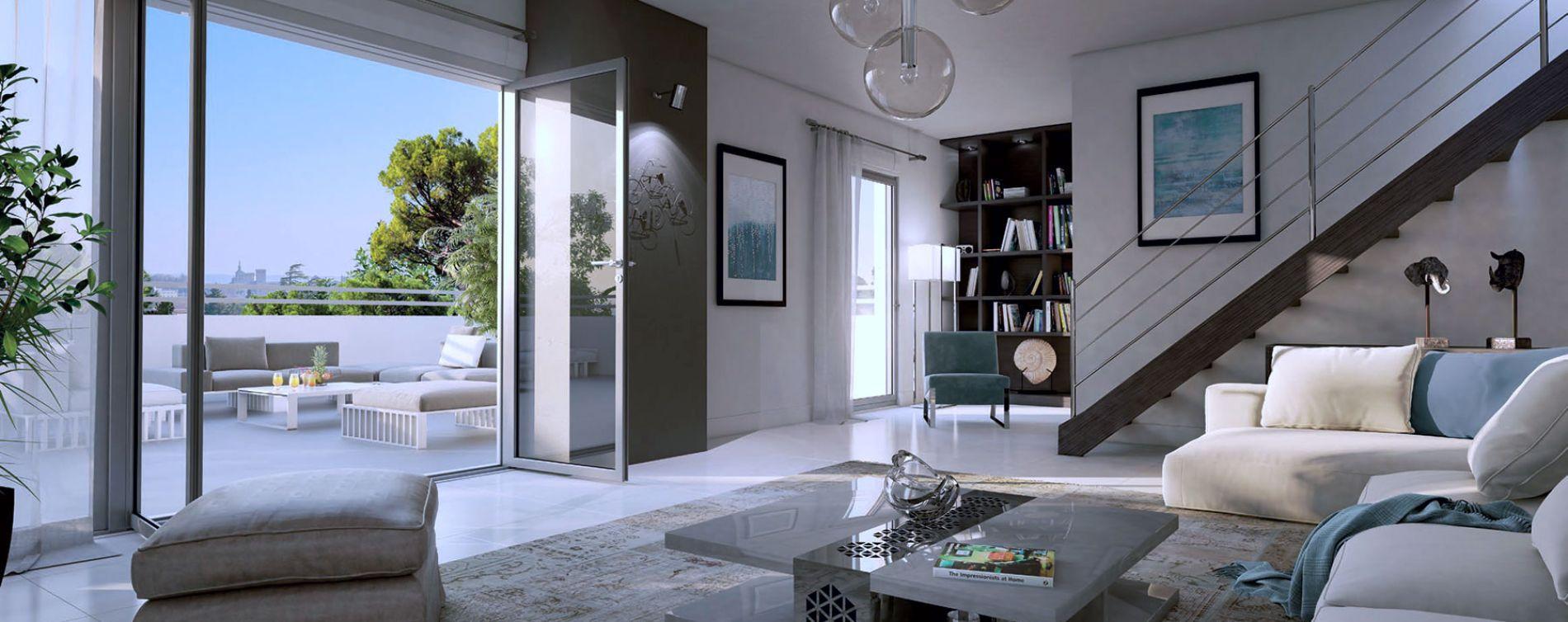 Villeneuve-lès-Avignon : programme immobilier neuve « Nouvelle Perspective » en Loi Pinel (2)