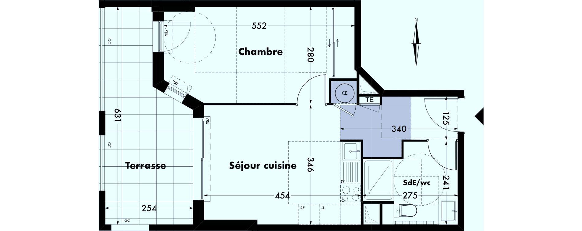 Appartement T2 de 39,98 m2 à Villeneuve-Lès-Avignon Centre