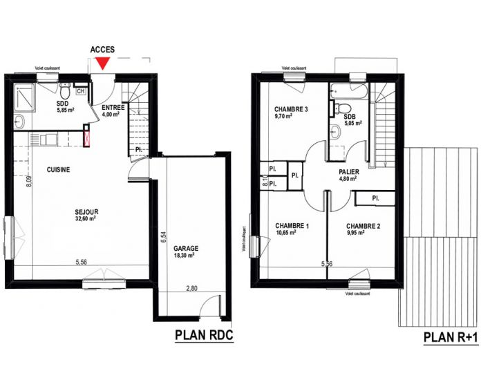 Maison t4 ayguesvives n 107 sud ouest programme - Plan maison sud ouest ...