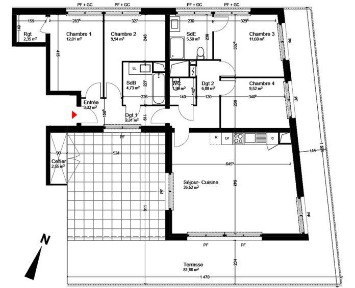 Plan T5 neuf à Blagnac de