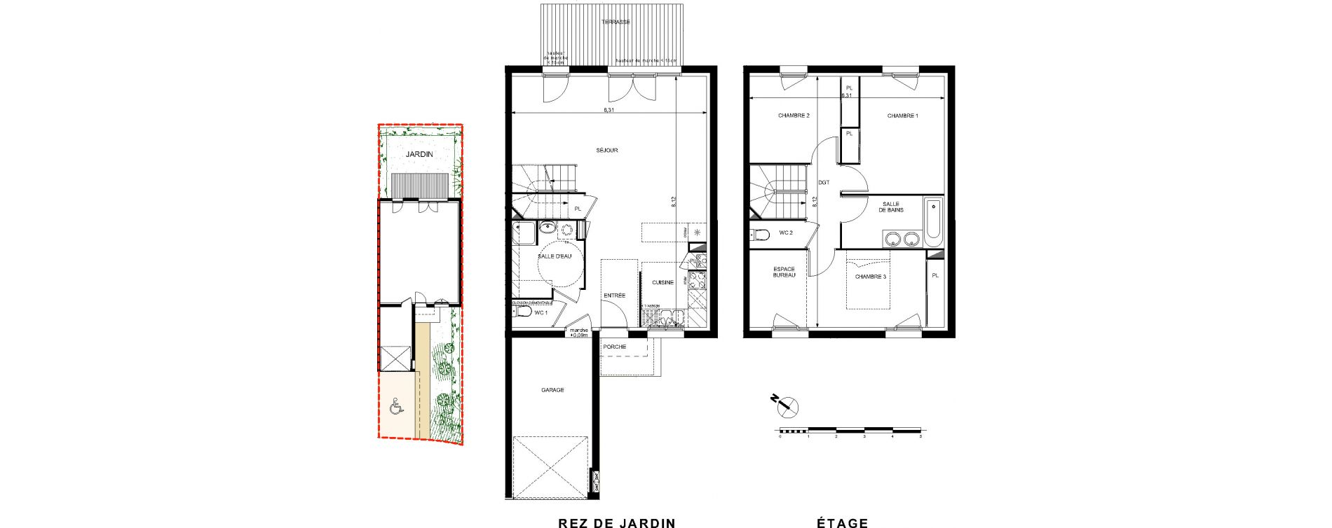 Villa T4 de 93,97 m2 à Brax Centre