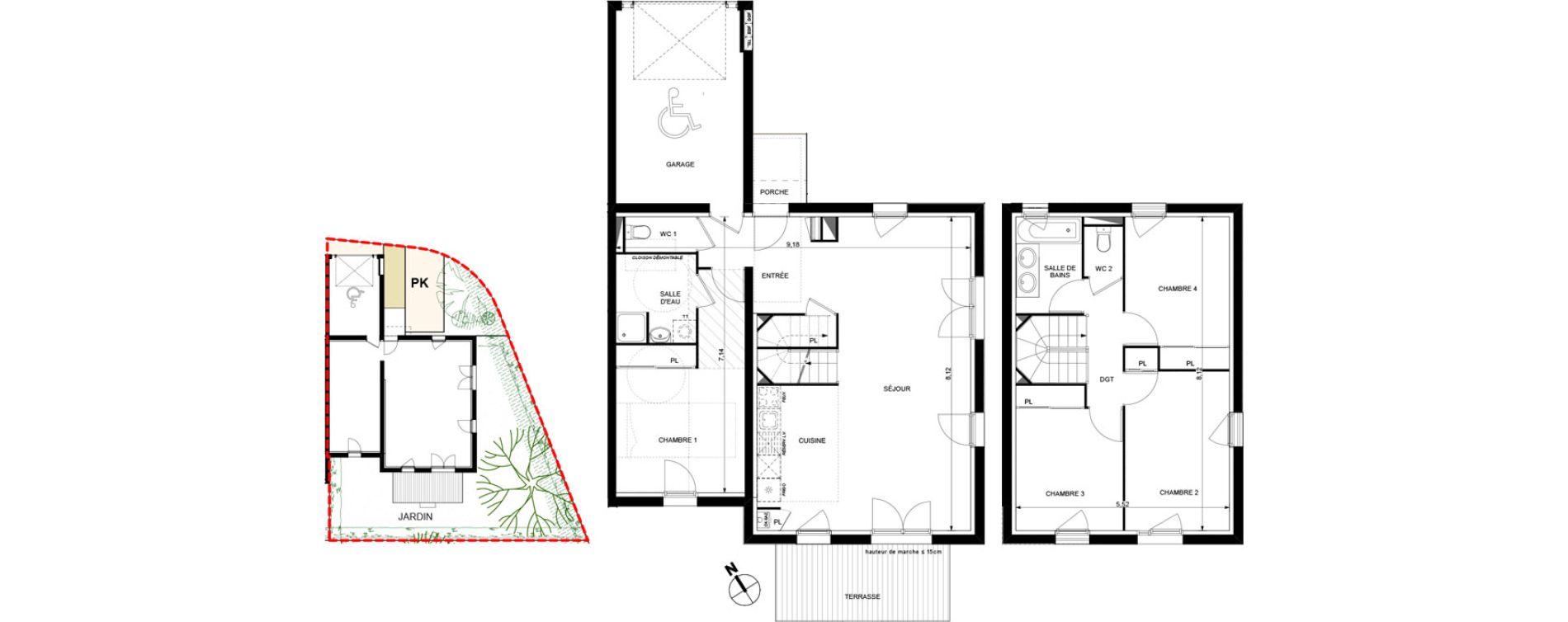 Villa T5 de 105,18 m2 à Brax Centre
