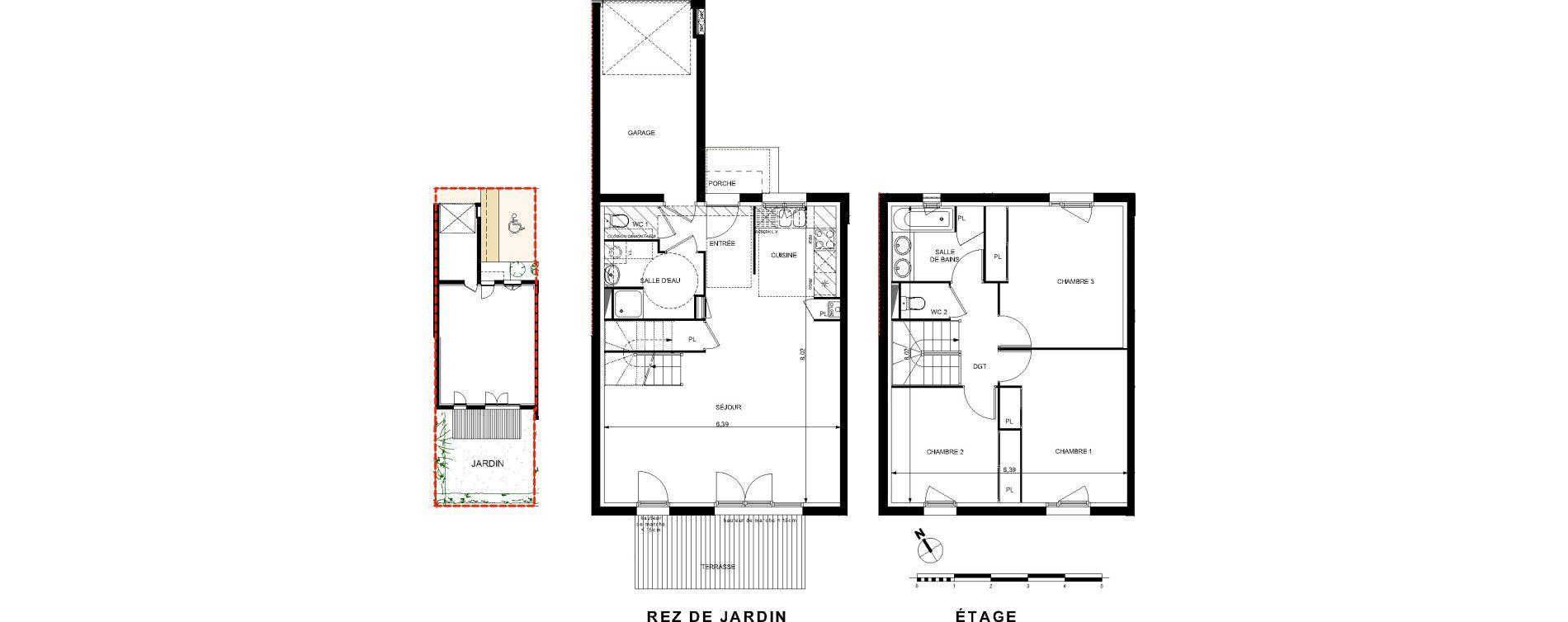 Villa T4 de 93,11 m2 à Brax Centre