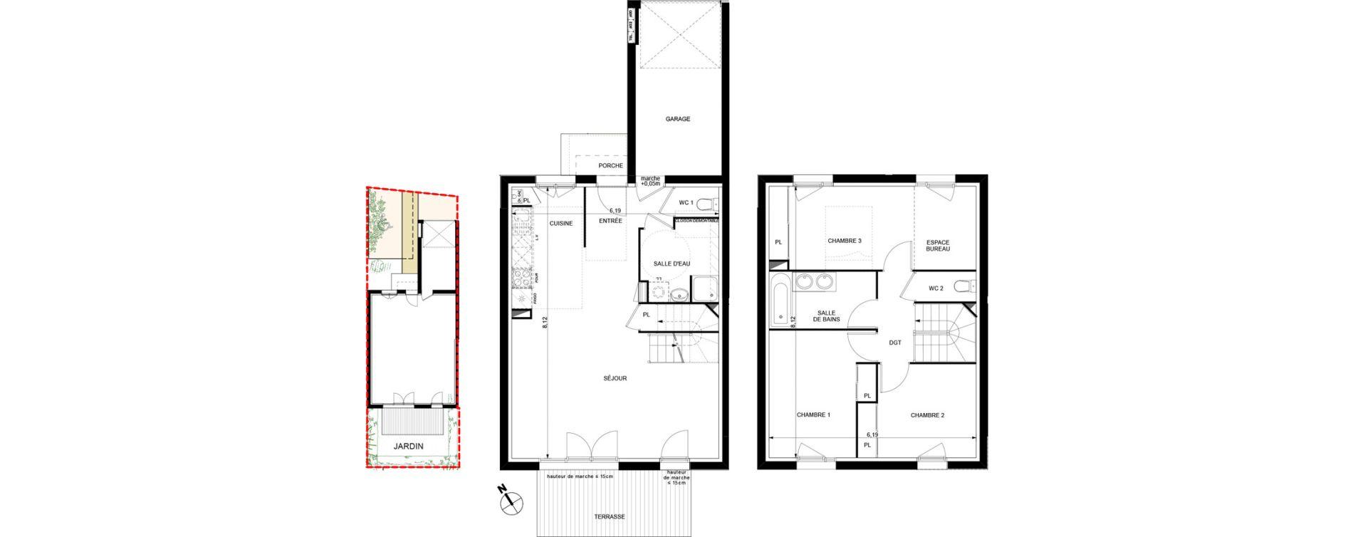 Villa T4 de 92,06 m2 à Brax Centre