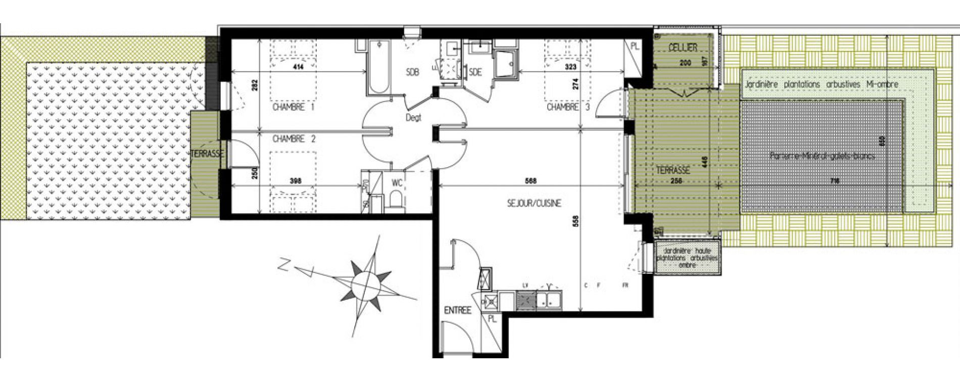 Appartement T4 de 83,35 m2 à Castanet-Tolosan Castanet tolosan centre