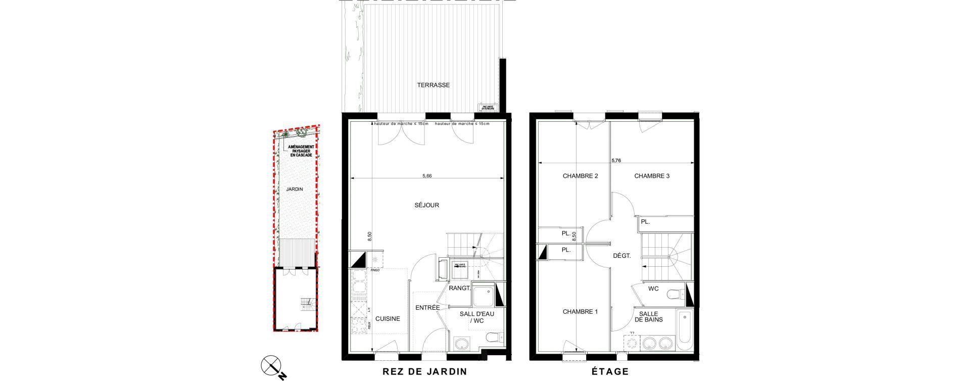 Villa T4 de 87,31 m2 à Castanet-Tolosan Castanet tolosan centre