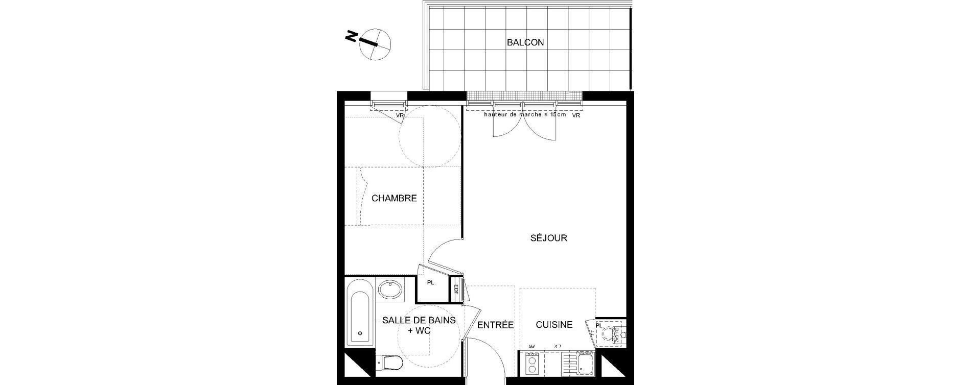 Appartement T2 de 42,62 m2 à Castanet-Tolosan Castanet tolosan centre