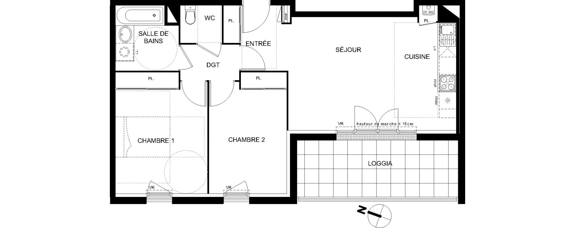 Appartement T3 de 60,68 m2 à Castanet-Tolosan Castanet tolosan centre