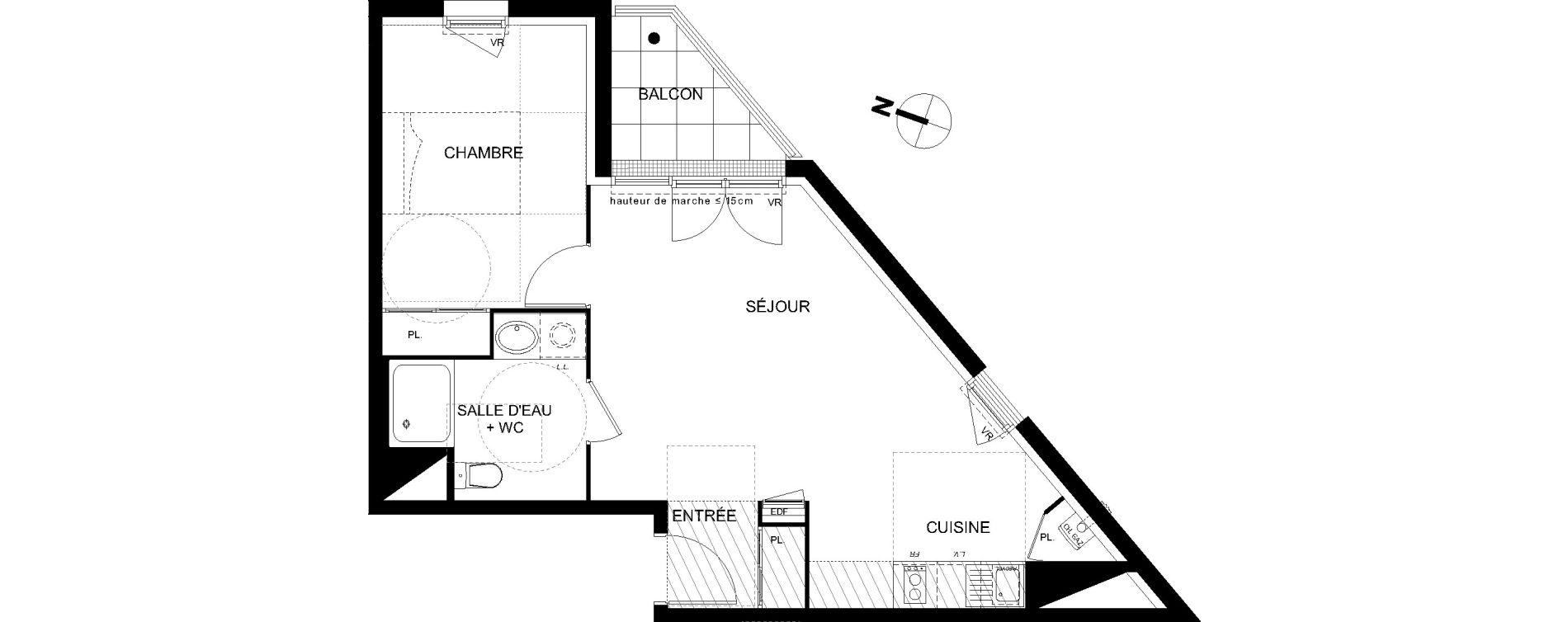 Appartement T2 de 45,57 m2 à Castanet-Tolosan Castanet tolosan centre