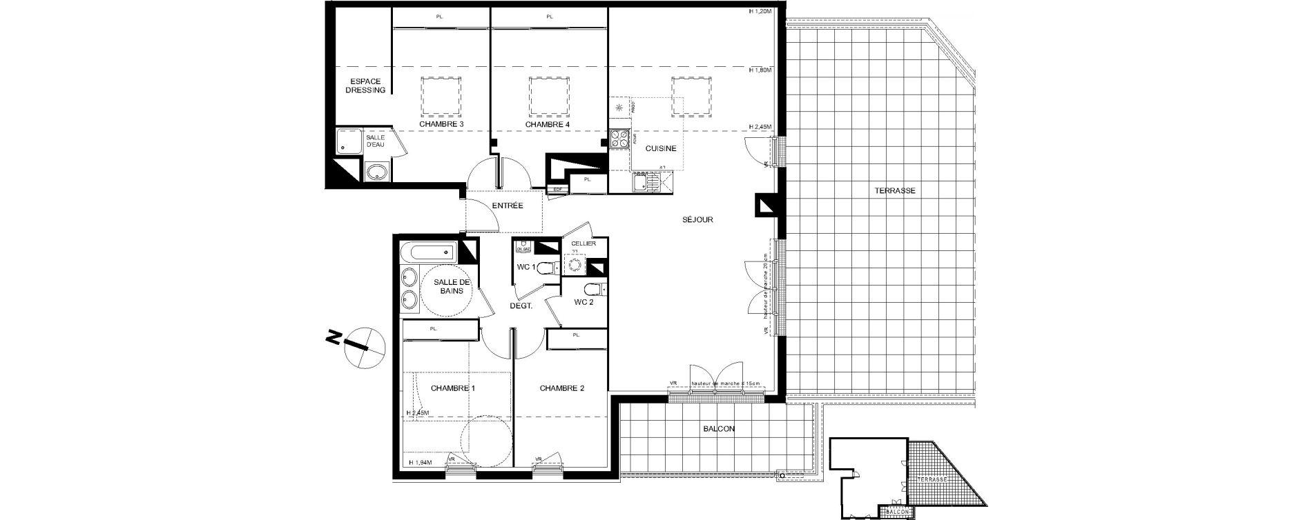 Appartement T5 de 111,11 m2 à Castanet-Tolosan Castanet tolosan centre