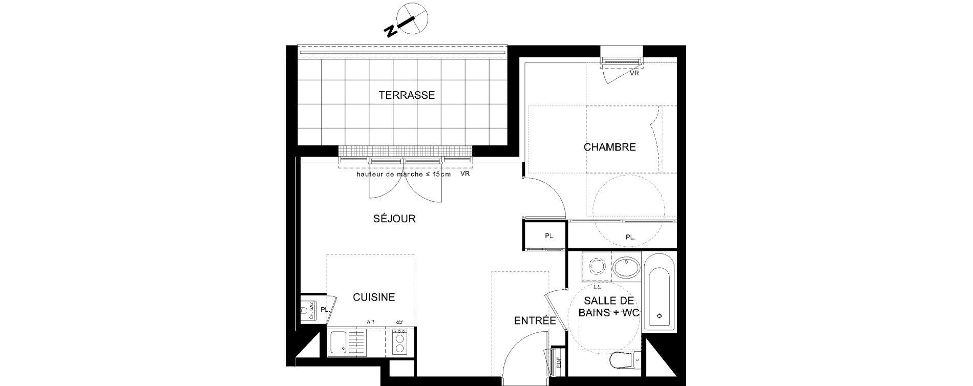 Appartement T2 de 39,10 m2 à Castanet-Tolosan Castanet tolosan centre