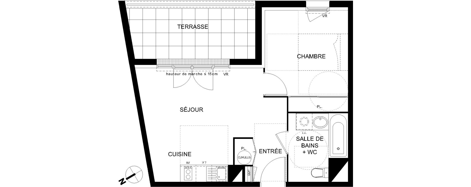 Appartement T2 de 38,84 m2 à Castanet-Tolosan Castanet tolosan centre